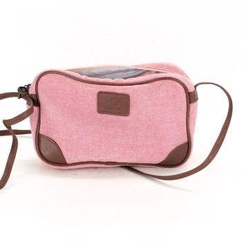 Dámská kabelka Adidas hnědo růžová