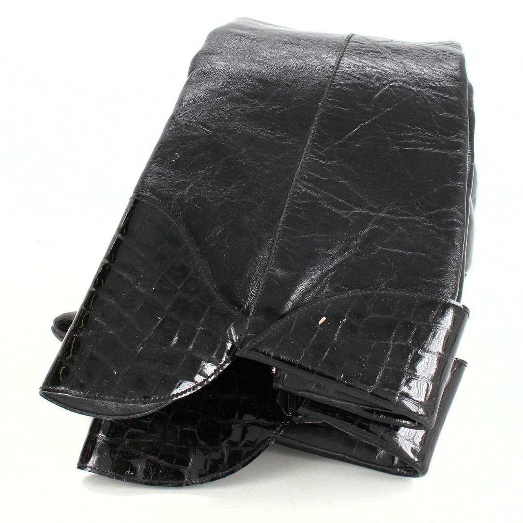 Dámské kozačky černé s ozdobou