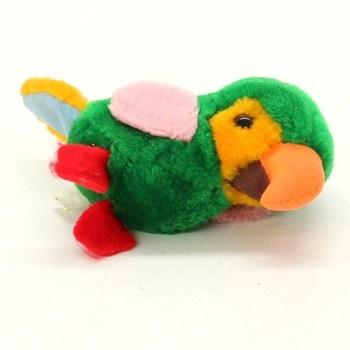Plyšová hračka papoušek