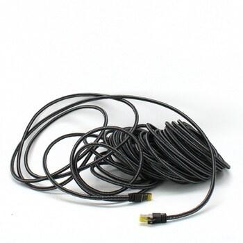 Síťový kabel CSL CAT 7 černý
