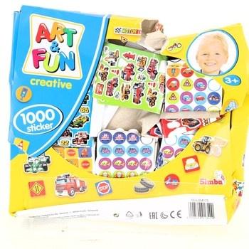 Samolepky s motivem Simba 1000 ks