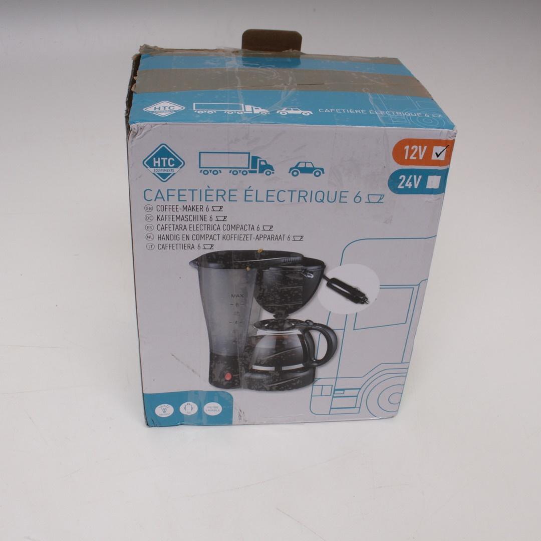 Cestovní kávovar HTC 12V černý