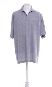 Pánské pólo tričko šedé jednobarevné