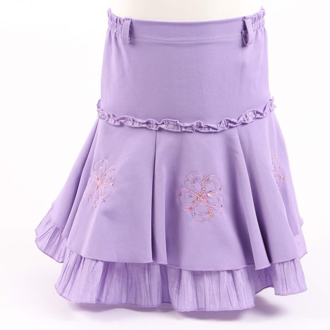 Dětská sukně fialová s kanýry