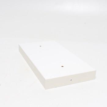 Polička Vasagle LWS24WT 40x20 cm bílá