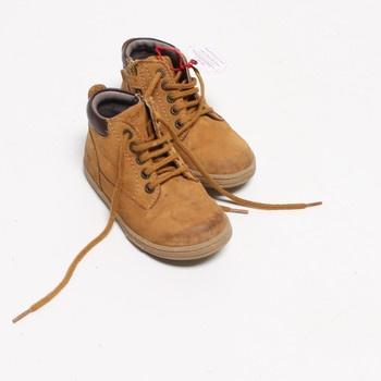 Dětské boty kotníkové KicKers béžové