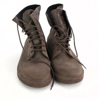 Pánské hnědé boty Armani Jeans