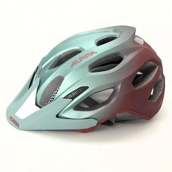 Cyklistická helma Alpina zelenočervená