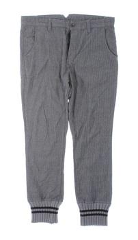 Pánské plátěné kalhoty ZARA šedé