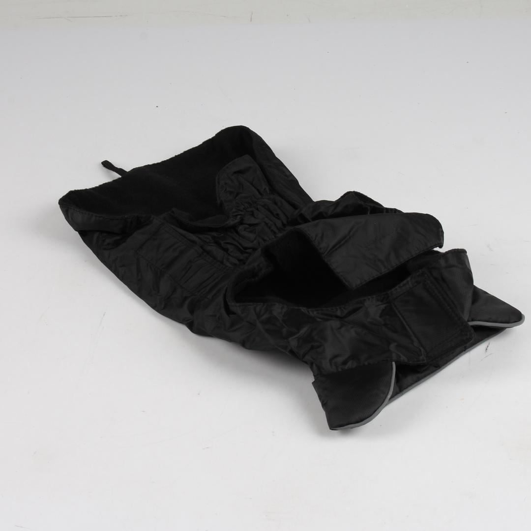 Obleček pro psa s reflexním páskem černý