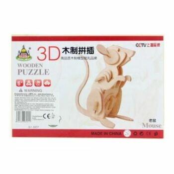 Dřevěné 3D puzzle Lamps DI-007 myš