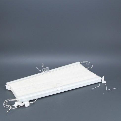 Okenní žaluzie bílá 120 x 40 cm
