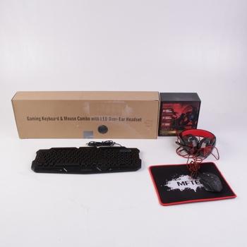 Herní set MFTEK - klávesnice, myš, sluchátka