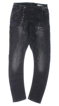 Dámské džíny Loose černé s vyšisováním