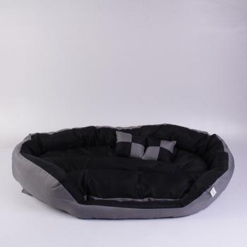 Pelíšek pro psa Dibea šedočerný 110 x 80 cm