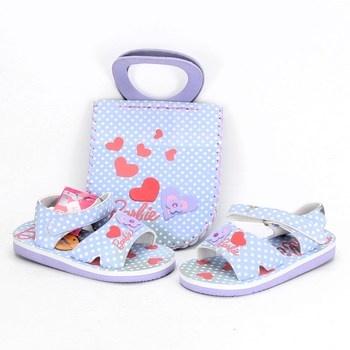 Dětské sandále Barbie modré s kabelkou
