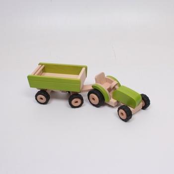 Dřevěný traktor Goki 55941