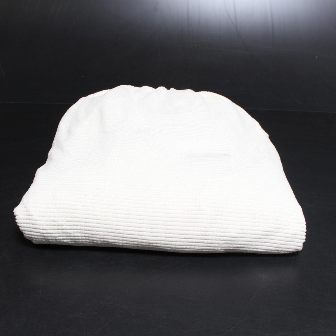 Přehoz na sedací soupravu v bílé barvě