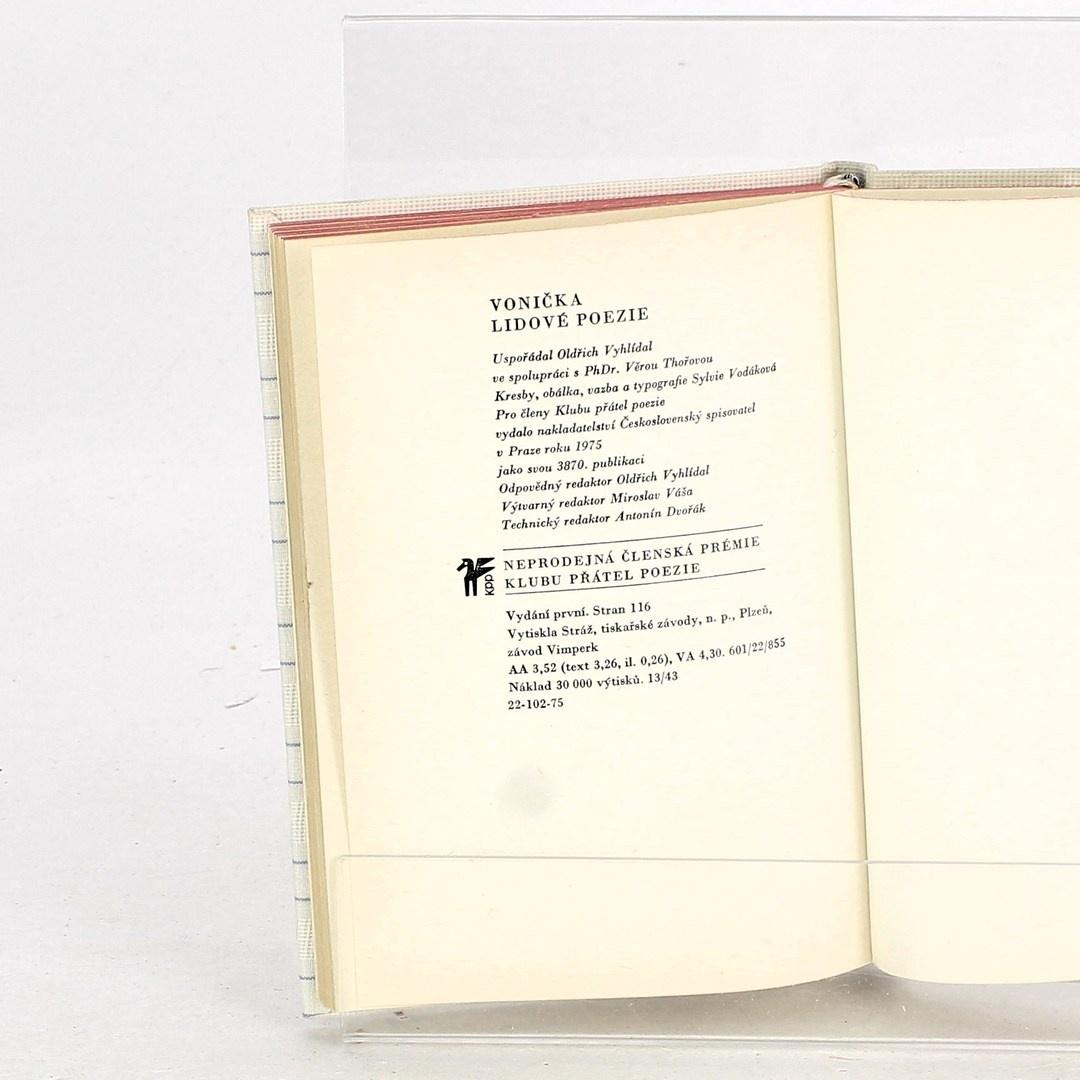 Kniha Vonička lidové poezie Oldřich Vyhlídal