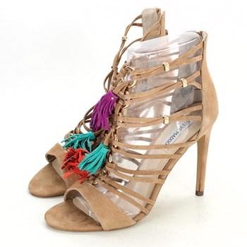 Dámské boty na podpatku Steve Madden béžové