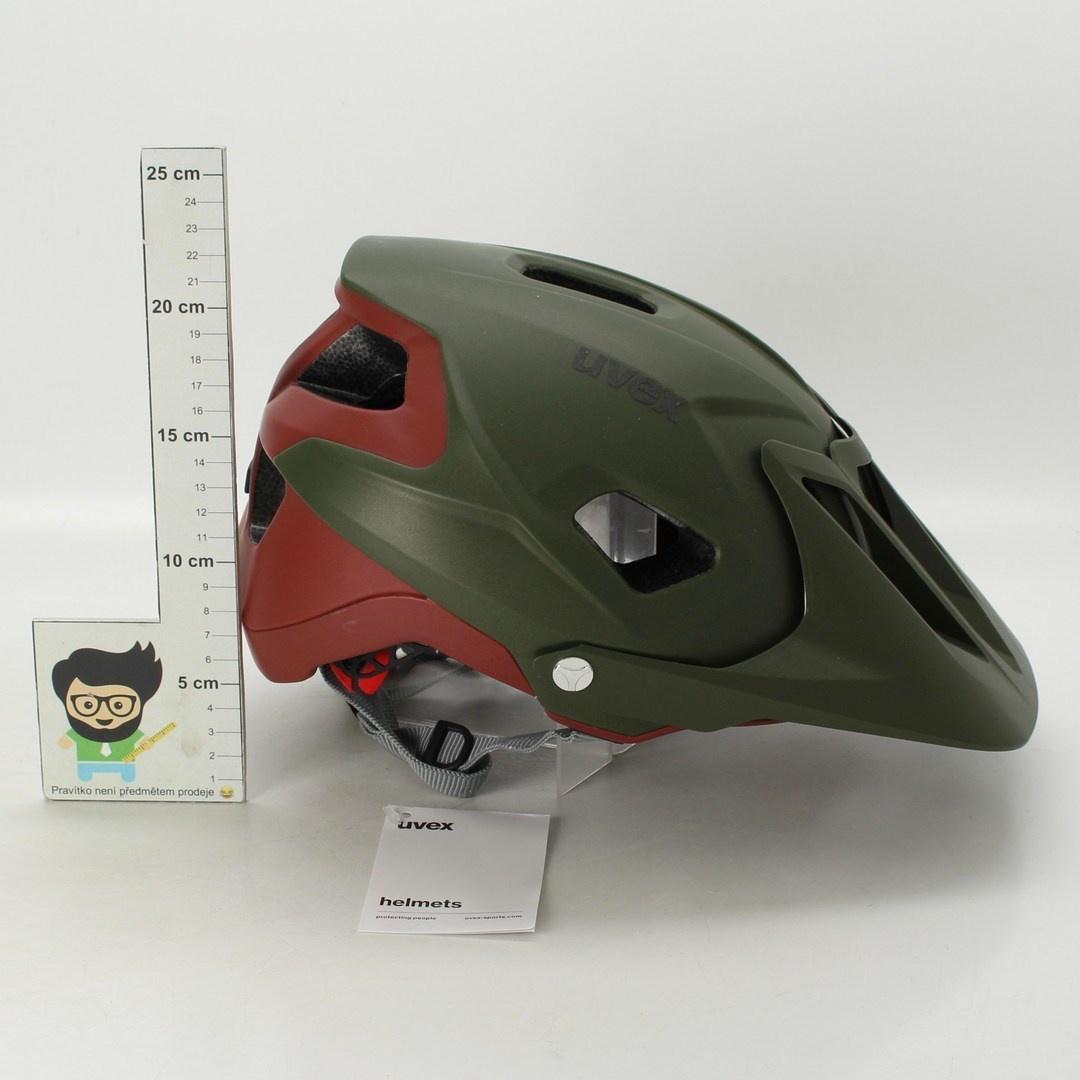 MTB helma Uvex Quatro Integrale green-red