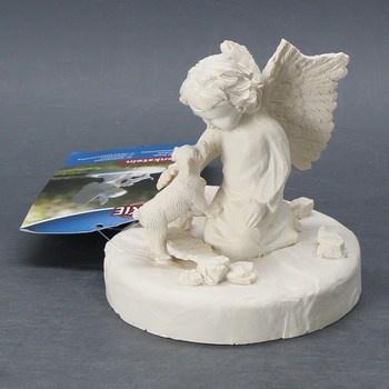 Dekorace Pamětní kámen Anděl s kočkou