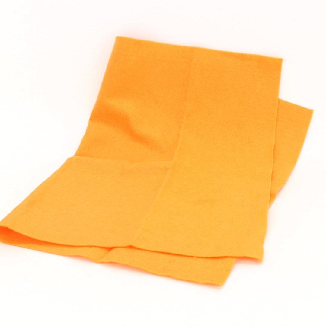 Úklidová utěrka oranžové barvy