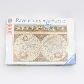 Puzzle 3000 Ravensburger 17054 Mapa světa