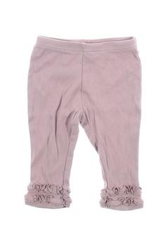 Dětské bavlněné kalhoty Next růžové