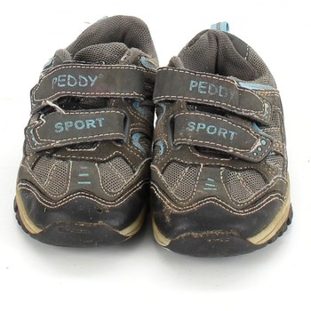 Dětské botasky Peddy sport hnědé a modré
