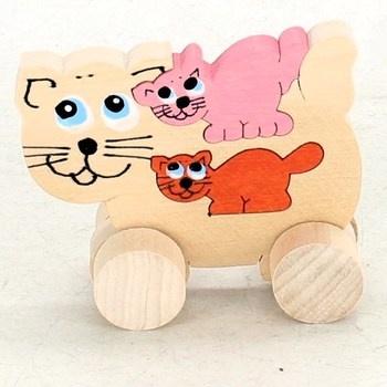 Dřevěná hračka ABAfactory 61050 kočka