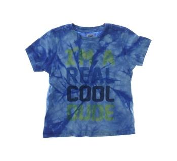 Dětské tričko F&F modré batikované s nápisem