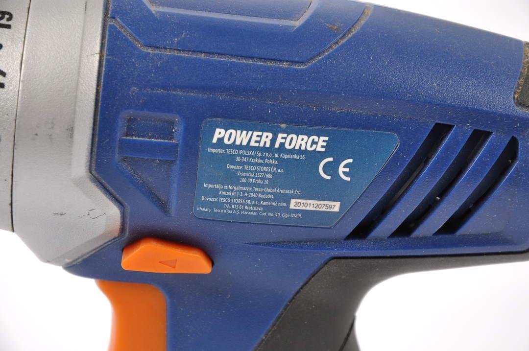AKU vrtačka Power Force 18V, max 10 mm
