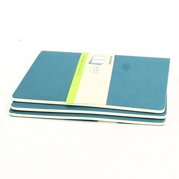 Modrý Zápisník Moleskine 3 kusy