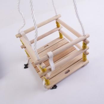 Dětská dřevěná houpačka Hudora 72113