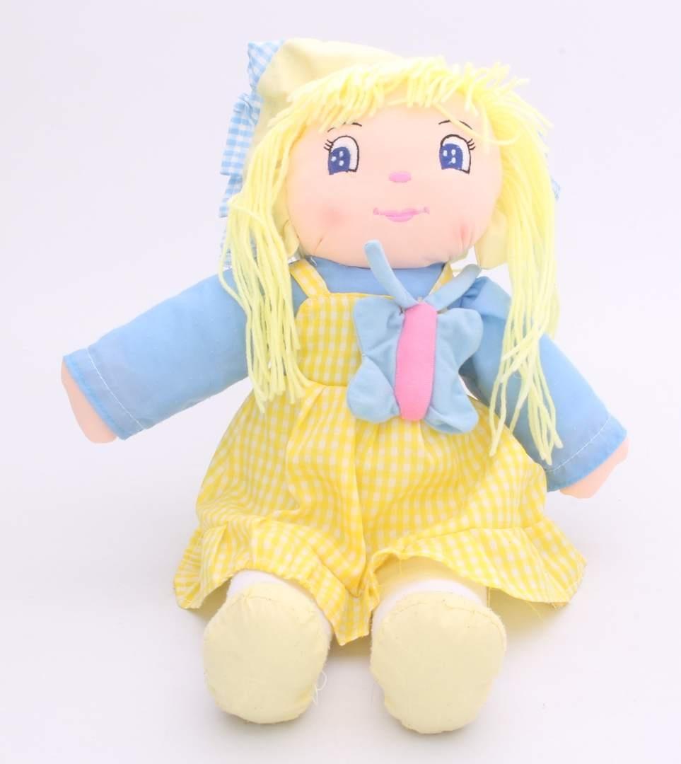 Panenka textilní s blond vlásky