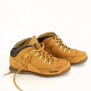 Pánské kožené boty Timberland hnědé