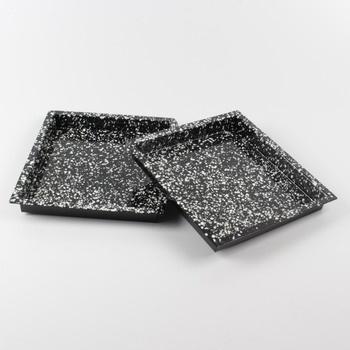 Smaltované pekáče 2 kusy černé