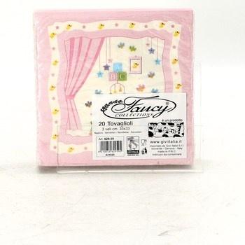 Papírové ubrousky Fancy růžové