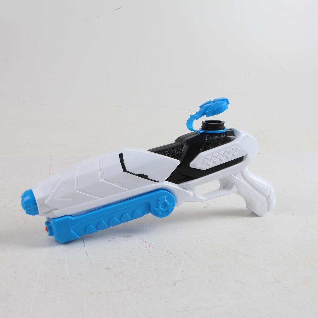 Vodní pistole modro bílé barvy
