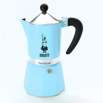 Kávovar Bialetti Rainbow, modrá, 6 šálků