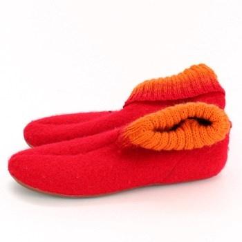 Dámské papuče textilní navlékací
