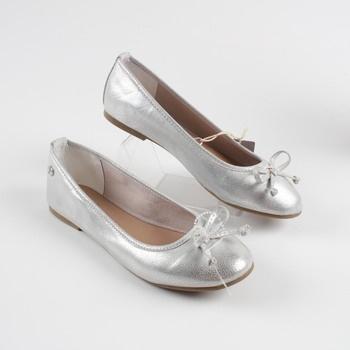8f85ddbb53 Dámské baleríny Tom Tailor Denim stříbrné