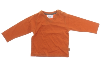 Kojenecké tričko Okay oranžové s véčkem