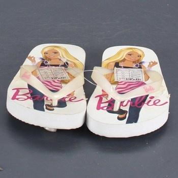 Dětské žabky Barbie bílo-růžové barvy