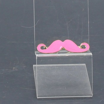 Dvojprsten Bubbles Pink Mustache MBP005