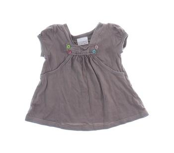 Dívčí tričko Next hnědé barvy
