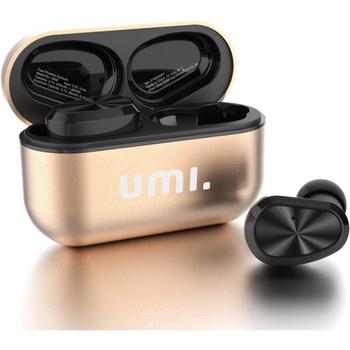 Bezdrátová sluchátka Umi W5S zlatá