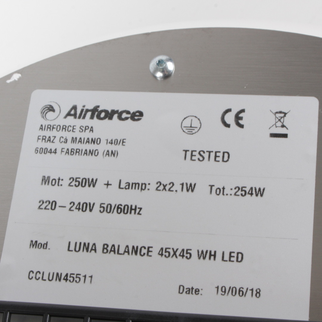 Ostrůvková digestoř AirForce Luna TLC 45 WH