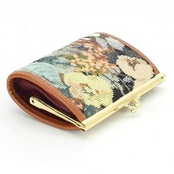 Dámská peněženka hnědo žlutá 370286e617